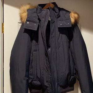Men's navy winter coat,
